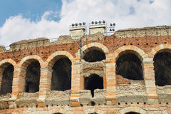 Wall and arches of Arena of Verona, Italy Royalty Free Stock Images