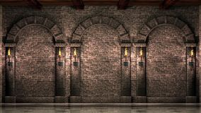 Wall with arches stock video footage