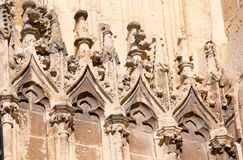 Wall architectural detail. Detail of a medieval church wall Royalty Free Stock Images