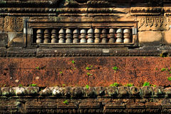 The wall around ankor wat, cambodia. The ancient wall around ankor wat, cambodia Royalty Free Stock Photos