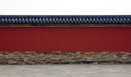 Wall around complex in China Royalty Free Stock Image