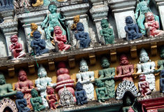 Wall art and architecture of 200 year old Temple royalty free stock photos