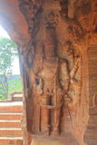Wall art at Badami Cave temples, Karnataka, India Royalty Free Stock Photos