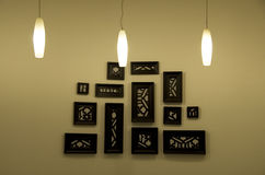 Wall art decoration lamp Royalty Free Stock Photography