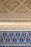 Islamic wall tiles and carvings Royalty Free Stock Photo