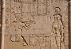 wall art of Karnak temple in egypt Stock Image