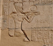 Wall art of Karnak temple in egypt Royalty Free Stock Photos