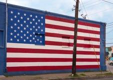 Wall art mural in Deep Ellum, Dallas, Texas stock images