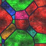 Abstract- hot stained glass. Wall art- nature. Stained glass- abstract pattern. Art decor- metal grille Stock Image