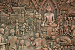 Wall art Thai style. In Pattaya thailand Royalty Free Stock Photography