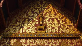 Wall  art of thai temple Royalty Free Stock Photo