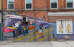 Wall art in Toronto Royalty Free Stock Photo