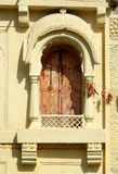 Wall art and windows architecture of 200 year old Temple royalty free stock image