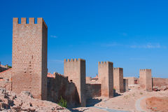 The wall of Artajona, Artajona, Navarra Royalty Free Stock Images