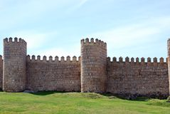 The wall of Avila Royalty Free Stock Photos