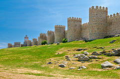 Wall of Avila Royalty Free Stock Photo