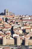 Wall of Avila, Spain. Stock Photo