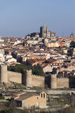 Wall of Avila, Spain. Royalty Free Stock Photography