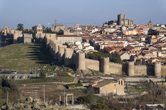 Wall of Avila, Spain. Royalty Free Stock Images