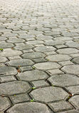 The wall background. From rock bricks Stock Image