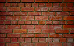 The wall background. From Brown bricks Royalty Free Stock Photography