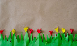 Wall background. Brow background make with paper Royalty Free Stock Photo