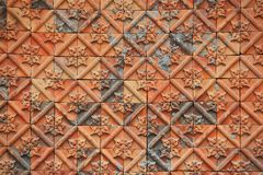 Wall background as thai style texture Royalty Free Stock Image