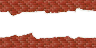 Wall background with broken plaster seamless Royalty Free Stock Images
