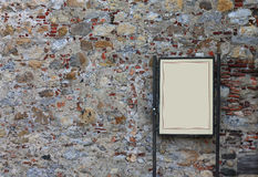 Wall background with empty information placard Royalty Free Stock Photography