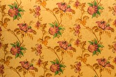 Wall background - Flowers pattern acrylic solid surface Royalty Free Stock Photo