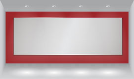 Wall background with light spot Stock Photos
