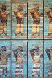 Wall background mosaic Stock Photo