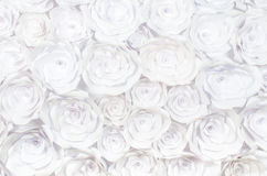 Wall with a background of paper flowers handmade craft creative abstraction Stock Image