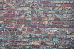 Wall background from old bricks. Cracks, damage, scratches on dirty bricks. Wall background textures from old bricks. Cracks, damage, scratches on dirty bricks stock photo