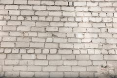 The wall background from white bricks.  stock image