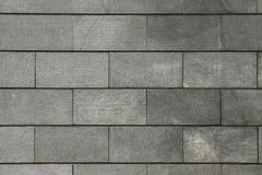 Wall backgrounds. The big tiles of grey colour stock photos