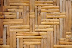 Wall From The Bamboo Royalty Free Stock Photo