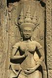 Wall bar-relief, Chau Say Tevoda temple, Angkor area Royalty Free Stock Photos