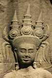 Wall bar-relief, Chau Say Tevoda temple, Angkor area Stock Image