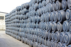 Wall of barrels Royalty Free Stock Photography