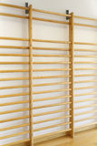 Wall bars in gymnastics room Royalty Free Stock Images