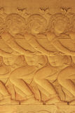 Wall bas-relief, Angkor Wat temple Royalty Free Stock Photography