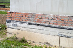 Wall and the base Stock Photo