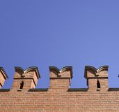 Wall with battlement. In the Moscow Kremlin. A brick Royalty Free Stock Image