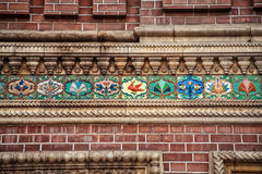Wall with beautiful bas-relief Royalty Free Stock Photography