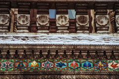Wall with beautiful bas-relief Stock Image