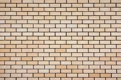 Beige plain smooth brickwork stock image