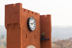 The wall with big clock Royalty Free Stock Photo