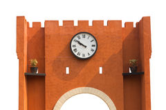 The wall with big clock Royalty Free Stock Photography