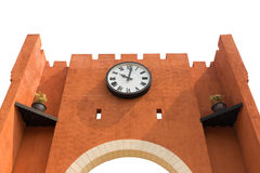 The wall with big clock Stock Photography